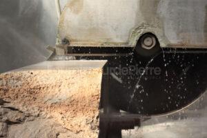 Production de pierre calcaire