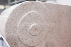 Production de piece en pierre calcaire