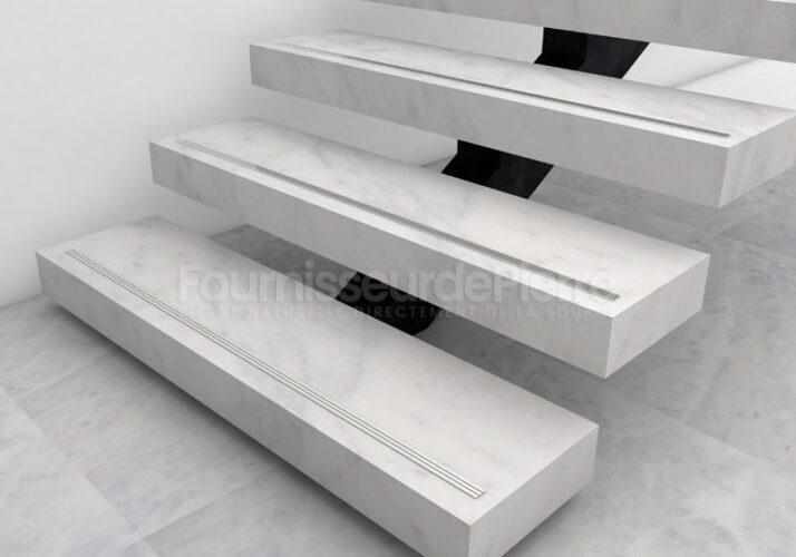 Escaliers et sol de marbre Estremoz