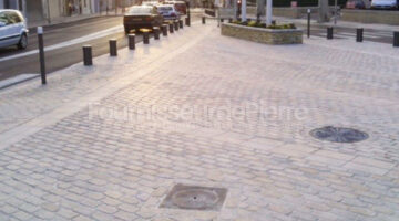Pavement de rue en pierre calcaire Ataija Bleu