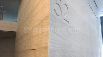 Revêtement muraux en pierre calcaire Moca Creme