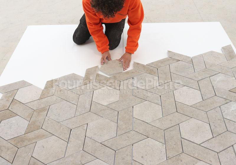 Sélection de carreaux de calcaire